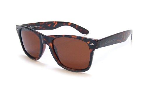 Coyote Eyewear p-23Polarisiert Wayfarer Style Sonnenbrille, Unisex, Tortoise/Brown