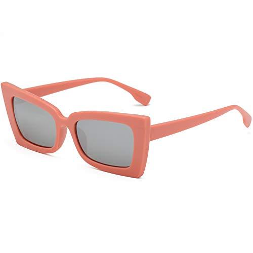 WZYMNTYJ Vintage Sonnenbrille Cat Eye Frauen Männer Sonnenbrille Brillen Retro Eyewear Runder Spiegel HD Ansicht Schatten Mode Outdoor