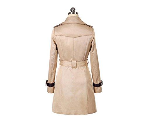 PINGMING New Frühling Und Herbst Frauen Windjacke Lange Abschnitte Jacke Koreanische Version Khaki