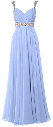 MACloth - Robe - Trapèze - Sans Manche - Femme bleu ciel