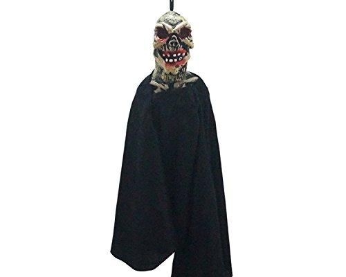 Vejaoo Halloween Hängender Geist hängend 40cm Horror Requisiten Party (Black (Requisiten Halloween Zombie)