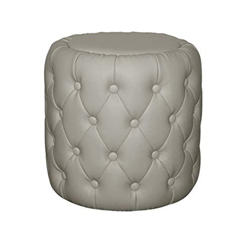Z-one Gepolstert Leder Ottomane Fußhocker, Gepolsterte getuftet Klassisch Kaffee Tisch Stuhl Sofa Fußbank hocker Eintrag Schuh Änderung hocker-grau