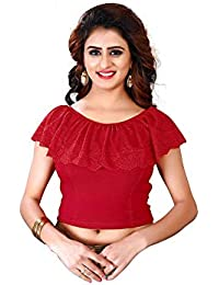 781ff2f5c83f8 CDPL Express Row Silk 3 4 Sleeve Stretchable Saree Blouse Readymade Blouse  For Women s