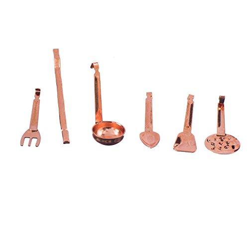 Generic 1:12 Casa Delle Bambole Mini Kitchenware Spatula Colino 6 Pezzi Cucina Accessori per Bambole