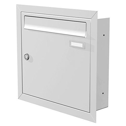 Max Knobloch Unterputz-Briefkasten weiss (RAL 9016) 12 Liter Einbaubriefkasten