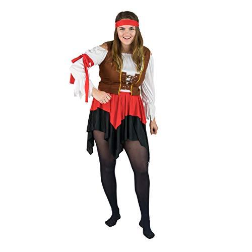 Bodysocks® Piraten Kostüm für Damen (Medium)