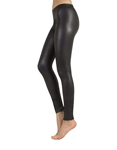 Leggings Pelle | Jeggings Nero | Pantaloni Donna Finta Pelle | Nero | XS, S, M, L, XL | Made in Italy | (1 - XS - Xtra Small)