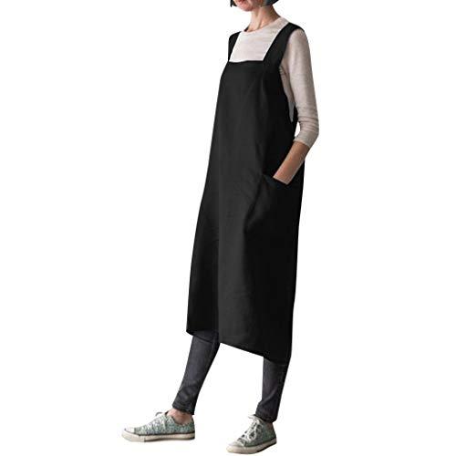 Vestido de Delantal para Mujer Tallas Grandes,Gusspower Vestidos largas Verano Juniors niñas algodón...
