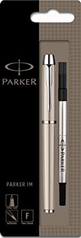 Parker IM Chrome Trim Rollerball Pen with Fine Nib, Blister
