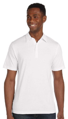 Bella Canvas Jersey 5 Button Polo Weiß