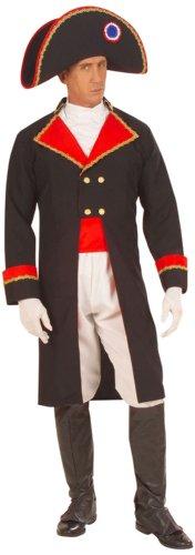 Widmann 57881 - Erwachsenenkostüm Napoleon, Jacke mit Jabot, Hose, Gürtel, Stiefelüberzieher und Hut, Größe S