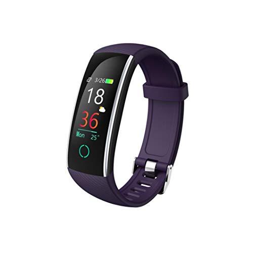 gaddrt Schrittzähler Smarte Uhren, Intelligenter Farbbildschirm Blutdruck Übung Herzfrequenz (lila)