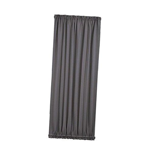 Rod Pocket Panel (LOVIVER Rod Pocket Französisch Türvorhang Blackout Türverkleidung 54x72 Zoll Fenster Drapieren Für Glastür 1 Panel - Grau)