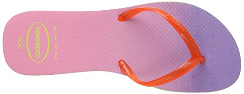 Havaianas Flat Sunset, Tongs Femme Lime Green /Strawberry