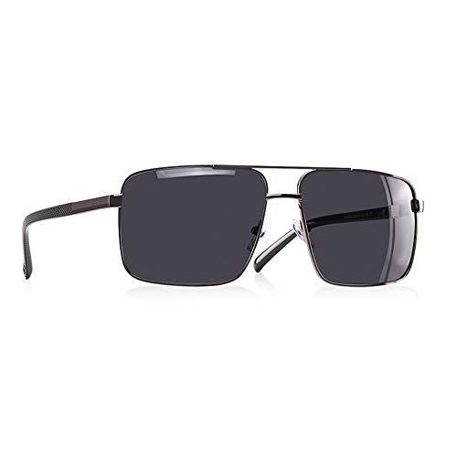 JU DA Sonnenbrillen 2019 Neue Design Herren Gläser Polarisierte Sonnenbrille Männer Fahren Platz Brille Metall Rahmen Männliche Schattierungen Gafas Uv400 C5Matte Gun
