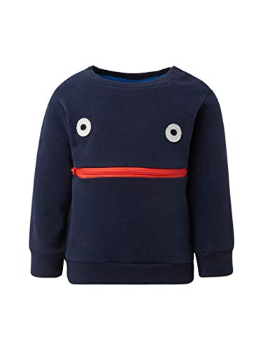 TOM TAILOR Kids Baby-Jungen Sweatshirt solid, Blau (Navy Blazer 3105) 74 -