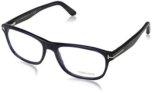 Tom Ford Herren Ft5430 Brillengestelle, Weiß (CORNO COLORATO), 56 - Männer Brillengestelle Weiße Für