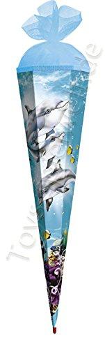 Roth Schultüte Delfin Zuckertüte Schulanfang Einschulung Schule Meer Fisch: Größe: 85 cm
