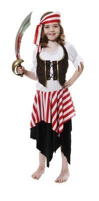 Kids Girls PIRATE Party Fancy Dress up Costume Age 4-6 years. by (Girl Up Dress Pirate)