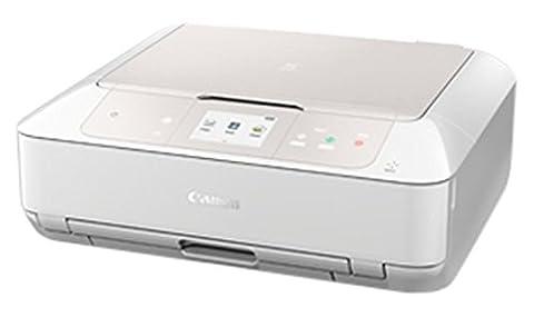 Canon Pixma MG7751 Farbtintenstrahl-Multifunktionsgerät (Drucken, Scannen, Kopieren, 6 separate Tinten, 22,4 cm (8,8 Zoll) Touchscreen, NFC, WLAN, Print App, Duplex, 2 Papierkassetten) weiß
