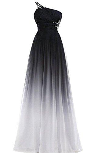 Drasawee - Robe - Taille empire - Femme Beige - Beige - Weiß und Schwarz