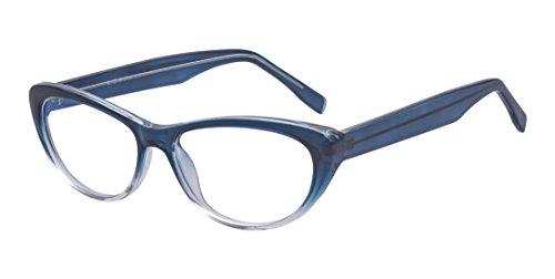 ALWAYSUV Katzenaugen Rahmen Klare Linse Retro Brillenfassung Mode Brille Cateye Glasses Blau
