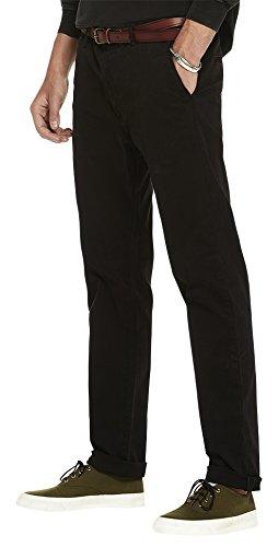 Scotch & Soda Herren Hose Stuart-Garment Dyed Chinos | Regular Slim Fit Schwarz (Black 0008)