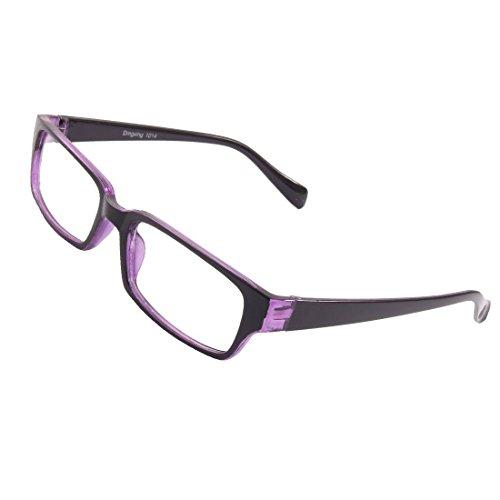 DealMux Lady Man Schwarz Lila Formatfüllend Kunststoff Arme klare Linse plain Gläser