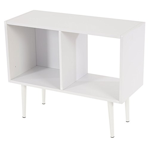 Regal-Malm-T340-Standregal-Bcherregal-Retro-Design-59x71x30cm-2-Fcher-wei