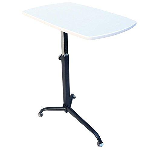 XIAOLIN Einstellbare Laptop-Tisch, Heben Notebook-Ständer Abnehmbare Tragbare Stehbett Schreibtisch Einfaches Sofa Frühstückstablett Lazy Portable verstellbaren Ständer ( Farbe : Weiß )