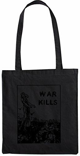 Mister Merchandise Tasche War Kills Stofftasche , Farbe: Schwarz Schwarz