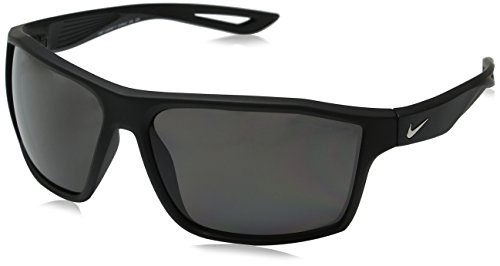 Nike Golf Legend P Sunglasses, Matte Black/Silver Frame, Polarized Grey Lens image