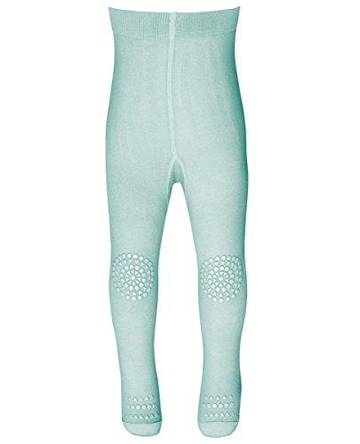 GoBabyGo Baby Krabbel Strumpfhose (74/80, Mintgrün) - rutschfeste Sohlen, Gummibeschichtung an Knien und Zehen, Öko Tex zertifiziert