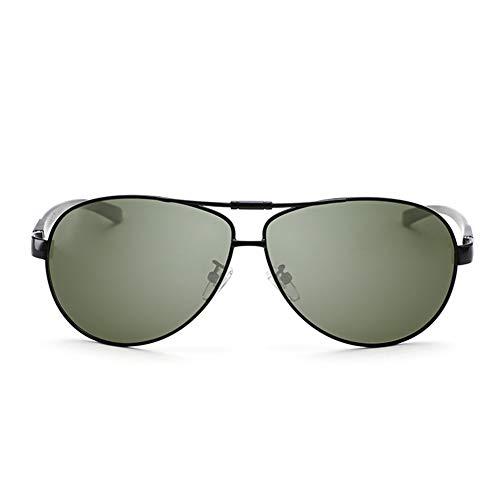 YIWU Brillen Polarisierte Sonnenbrille Männer, die spezielle Fahrgläser Aluminium Magnesium Spiegel Sonnenbrille Dunkelgrün Fahren Brillen & Zubehör (Color : 2)
