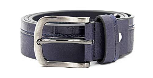 Sunonip Cinturón De Jeans De Cocodrilo Para Hombres De Moda Con Cinturón Azul Oscuro De Color Azul Oscuro Ancho Para Hombres,Dblue,110Cm 36To39 Inch