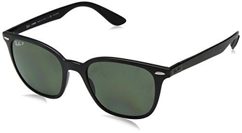 Ray-Ban Unisex-Erwachsene 0RB4297 601S9A 51 Sonnenbrille, Matte Black/Polargreen,