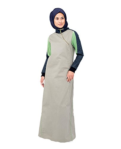 Silk Route Sports Cross Zipper Islamic Fashion Abaya Jilbab