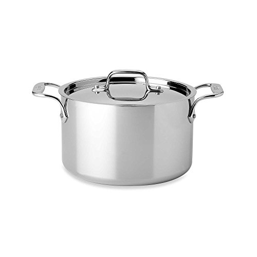 All-Clad 4304 Stainless Steel 3-Ply Bonded Dishwasher Safe Casserole with Lid Cookware, 4-Quart, Silver