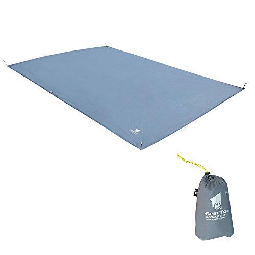Oxford-Gewebe, 4-5 Personen (300cm*210cm) Schutzplane/Gewebeplane /Zeltplanen/Zeltmatte/Zeltunterlage (600g), Schatten- und Regenschutz, für Wanderungen, Camping, Picknick (Grau)