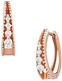 TBZ - The Original 18KT Rose Gold and Diamond Stud Earrings for Women