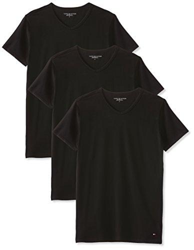Tommy hilfiger vn tee ss 3 pack premium essentials, canotta uomo, black 990, large pacco da 3