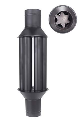 Vulkan Scambiatore di calore per scambiatore di calore camino/camino fumi, Raffreddatore gas di scarico nero, Diametro 150 mm, 6 tubi
