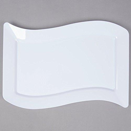 k - Elegante Hartplastik Große Teller / Weiße Teller / Tabletts - 25,4 x 34,3 cm (25 x 35 cm), Weiß ()