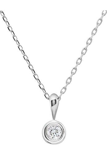CHRIST-Diamonds-Damen-Kette-333er-Weigold-1-Brillanten-ca-008-ct-weigold-One-Size