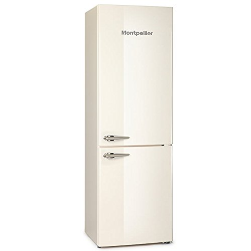 Montpellier MAB365C Retro Freestanding Fridge Freezer Cream