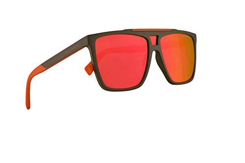 Armani Exchange A|X AX4079S Sonnenbrille Matte Armee Grün Mit Violetten Verspiegelten Roten Gläsern 58mm 82726Q AX 4079S
