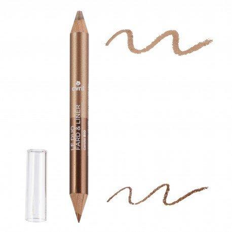 AVRIL - Bleistift Duo Lidschatten Biological - Kupfer / Golden Beige - Tenuta Extreme, Textur Weich...