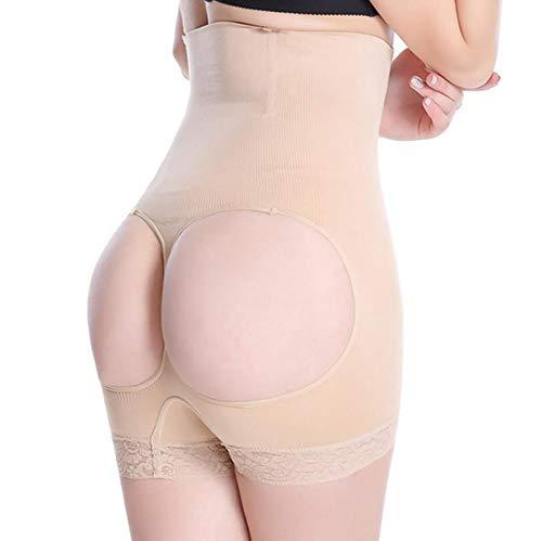 Lifter Nahtlos Shapewear Shorts Oberschenkel schlanker Offener Hintern Bauchkontrolle Höschen,Skin,M/L ()