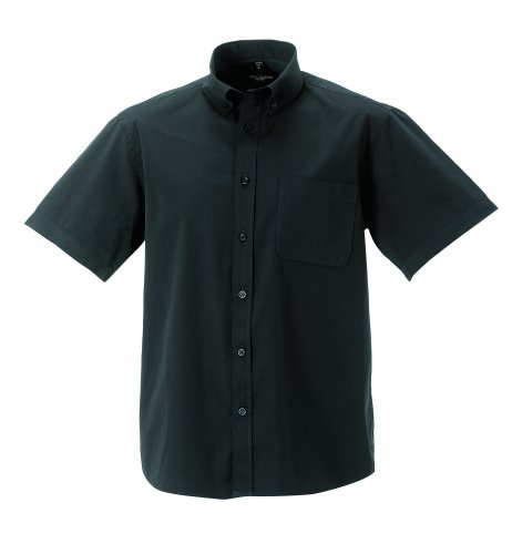 Z917M Russell CollectionKurzärmeliges Twill-Herrenhemd - bis Gr. 4XL 4XL / 49/50,Zinc (Baumwolle-button-down-shirt Seide)