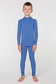 meteor Conjunto Ropa Interior Térmica para Niños - Camiseta de Manga Larga y Pantalón - Set Infantil Elástico